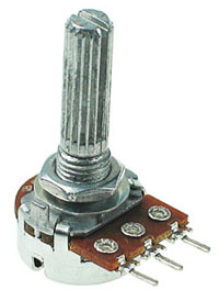 POT50KBDETENT - 50Kohm Linear Rotary Taper Potentiometer with Center Detent
