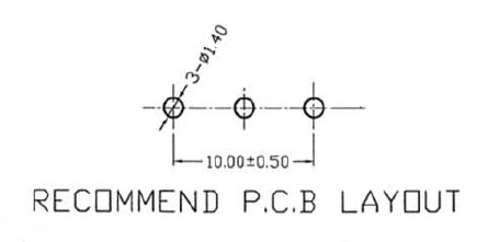 POT1KBDETENT - 1K Linear Taper Potentiometer with Center Detent PCB Layout