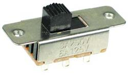 DPDT On-Off-On Vertical Slide Switch