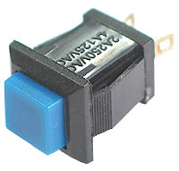 SPBLUE - SPST Square off-on BLUE Pushbutton