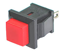 SPRED - SPST Square off-on RED Pushbutton