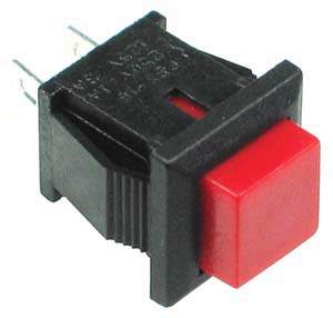 SPRED10 - SPST Square on-off RED Pushbutton