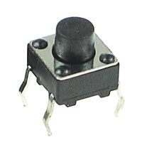 TACT002 - Small Raised Black Tactile Switch