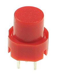 TACT009 - Raised Red Tactile Switch