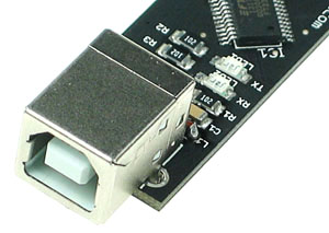 Click for Larger Image - Receive and Transmit LEDs for the USB Connection