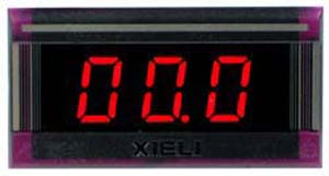 XL2-20V-2WIRE - Digital Red 20VDC LED Voltmeter