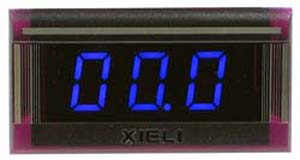 XL3BL-20V - Digital Blue 0-20VDC LED Voltmeter