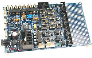 Click for Larger Image - ADuC842 Controller Board
